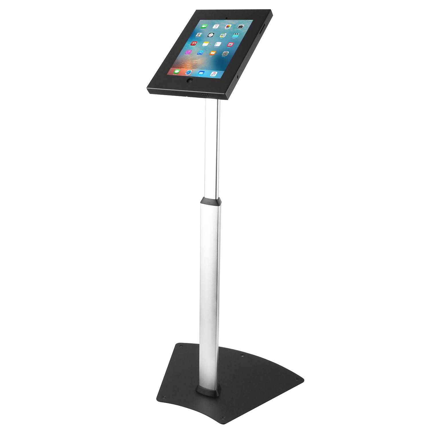 Brateck PAD12-05 iPad Kiosk Floor Stand Height Adjustable Black