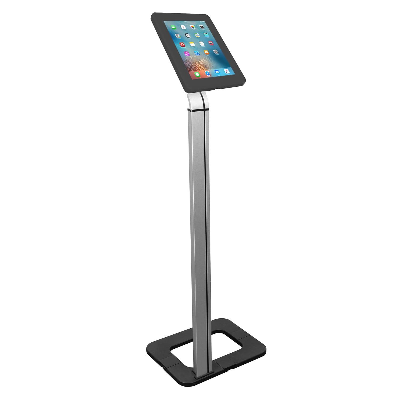 Brateck PAD15-01 Universal Tablet Floor Stand Kiosk Aluminium Black