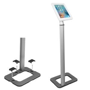 Brateck PAD15-01 Universal iPad Tablet Kiosk Floor Stand Screw-down
