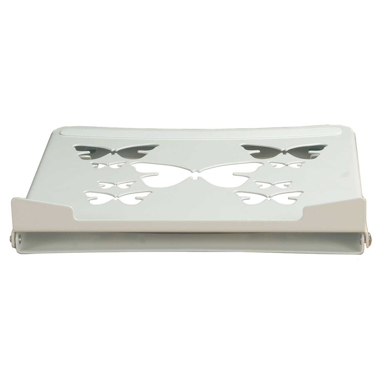 smart folding laptop riser cooler stand height angle adjustable flat