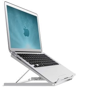 smart folding laptop riser cooler stand height angle adjustable