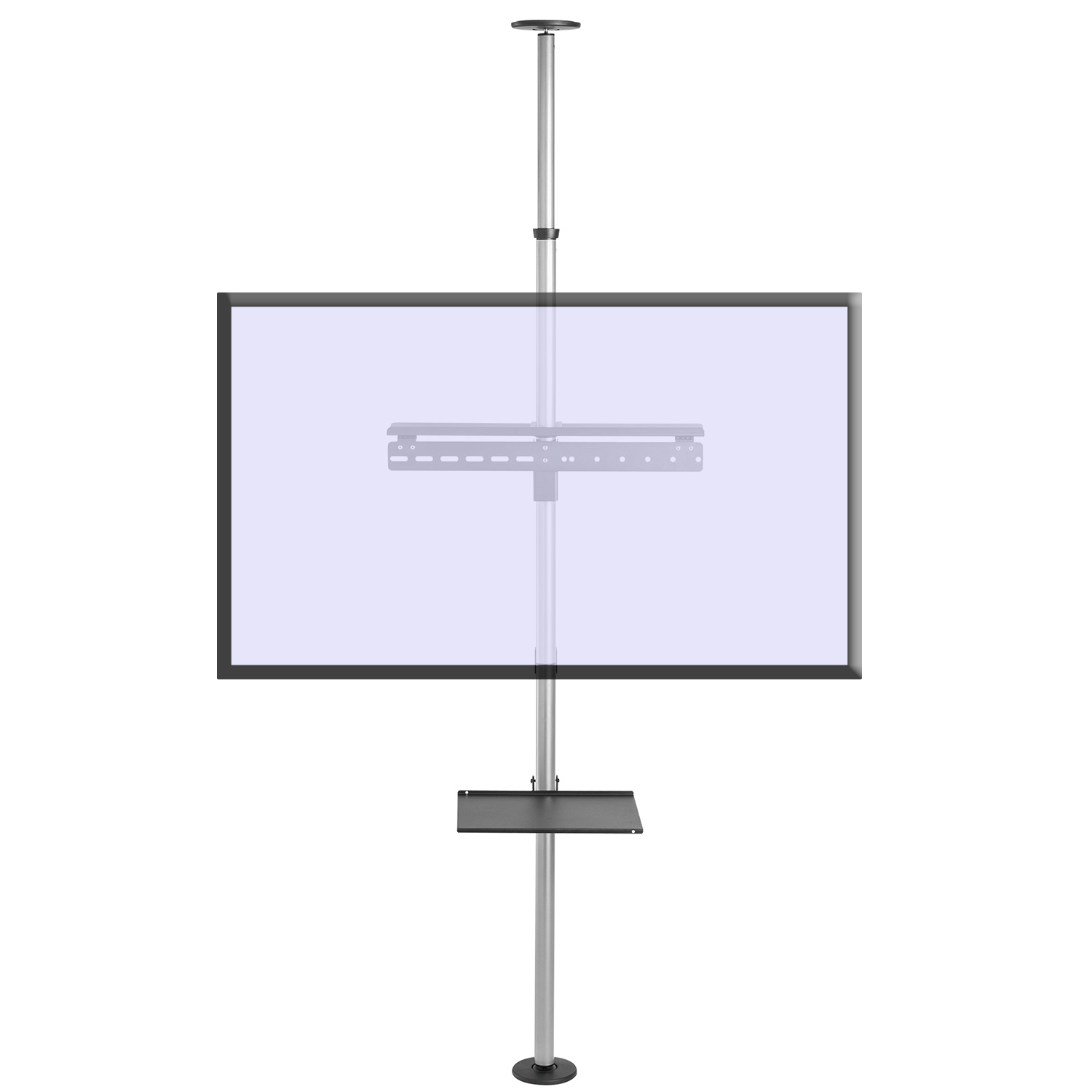 fcm63m floor ceiling tv mount stand front screen