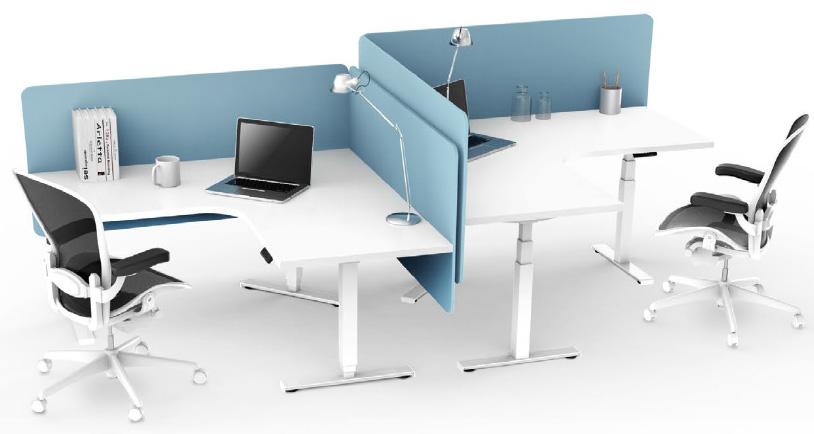 EDF03T triple motor sit-stand desk rectangular workstation
