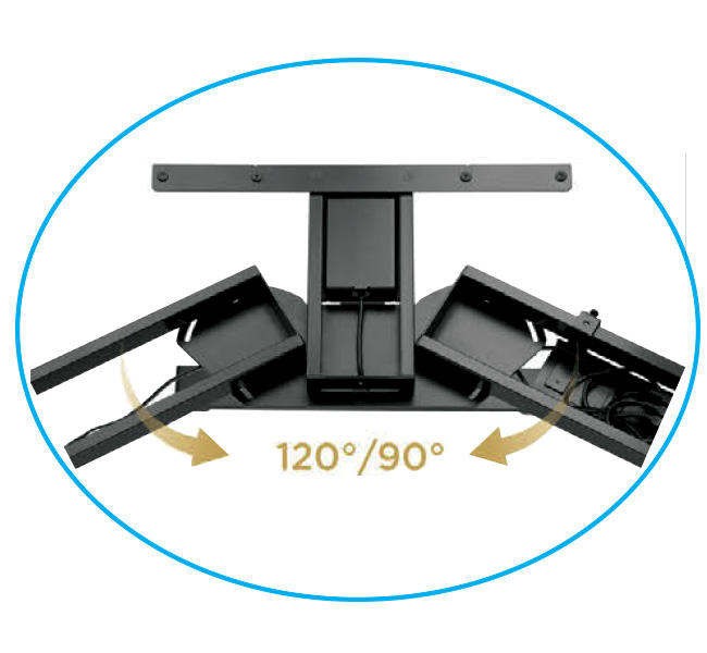 EDF03T triple motor sit-stand desk frame shape change