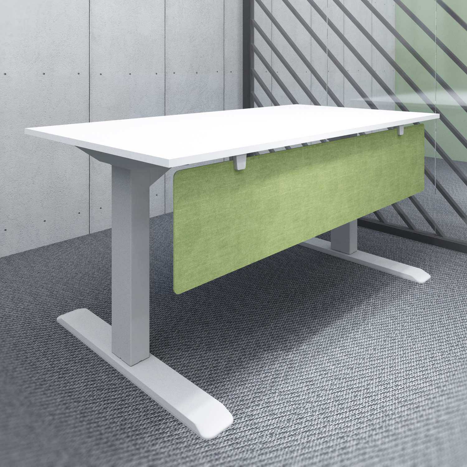 s144gr acoustic under desk modesty panel green