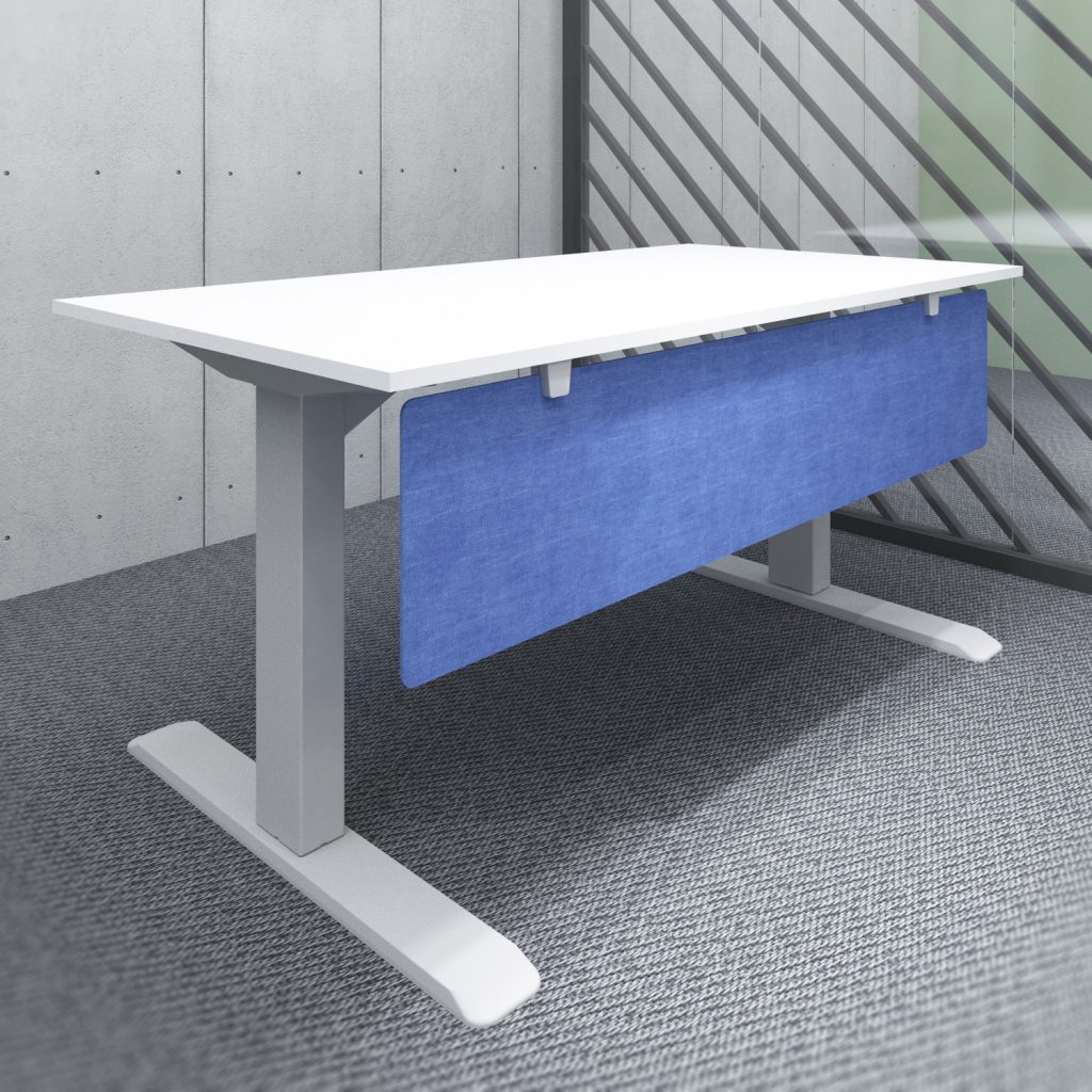 s144l acoustic screen under desk modesty panel blue