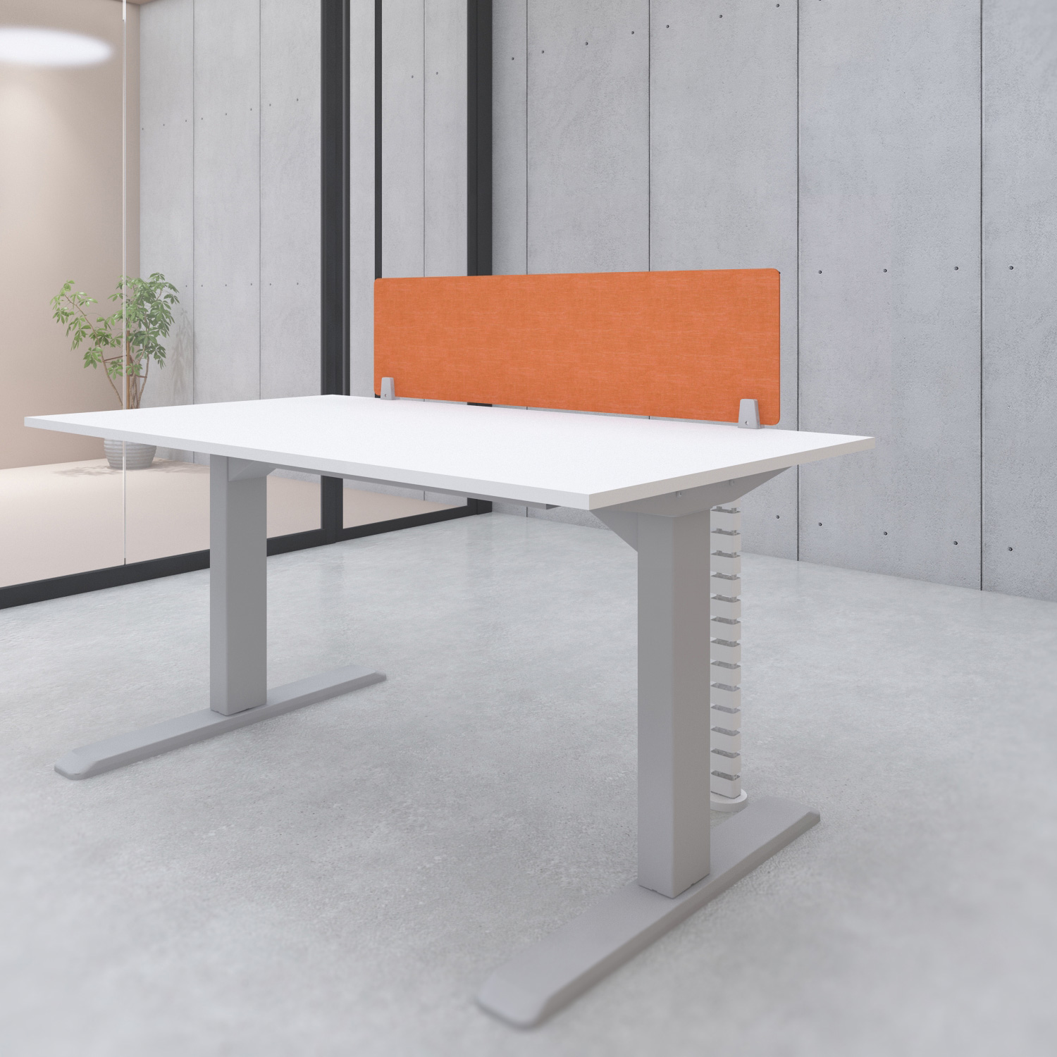 s144or acoustic desk privacy screen divider orange