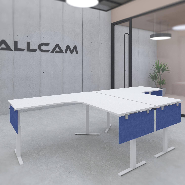 s084l Acoustic Fire-proof Privacy Screen / Modesty Panel 80x35cm w/ Desk Mount