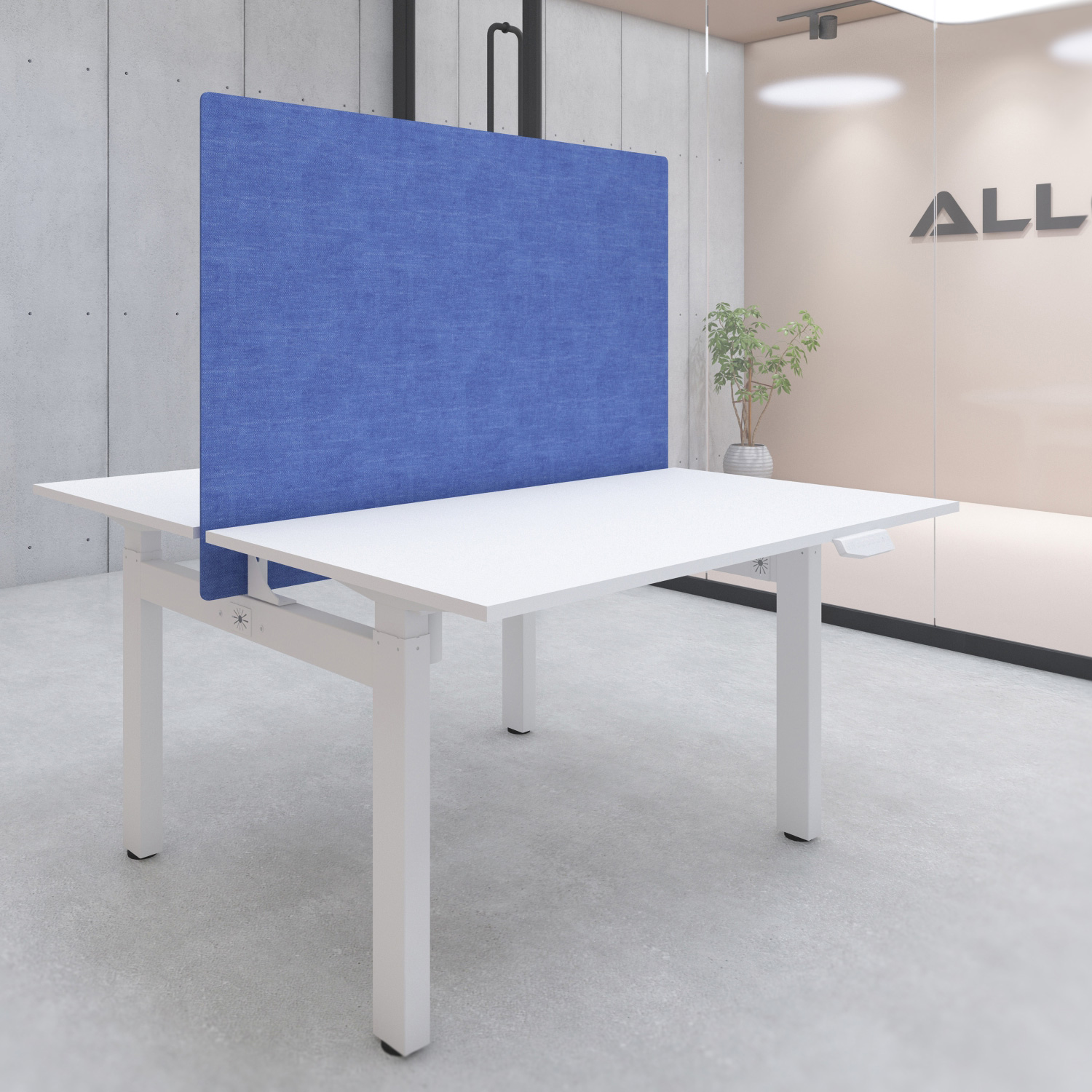 s149l desk privacy screen with mounting kit 1400x900 blue