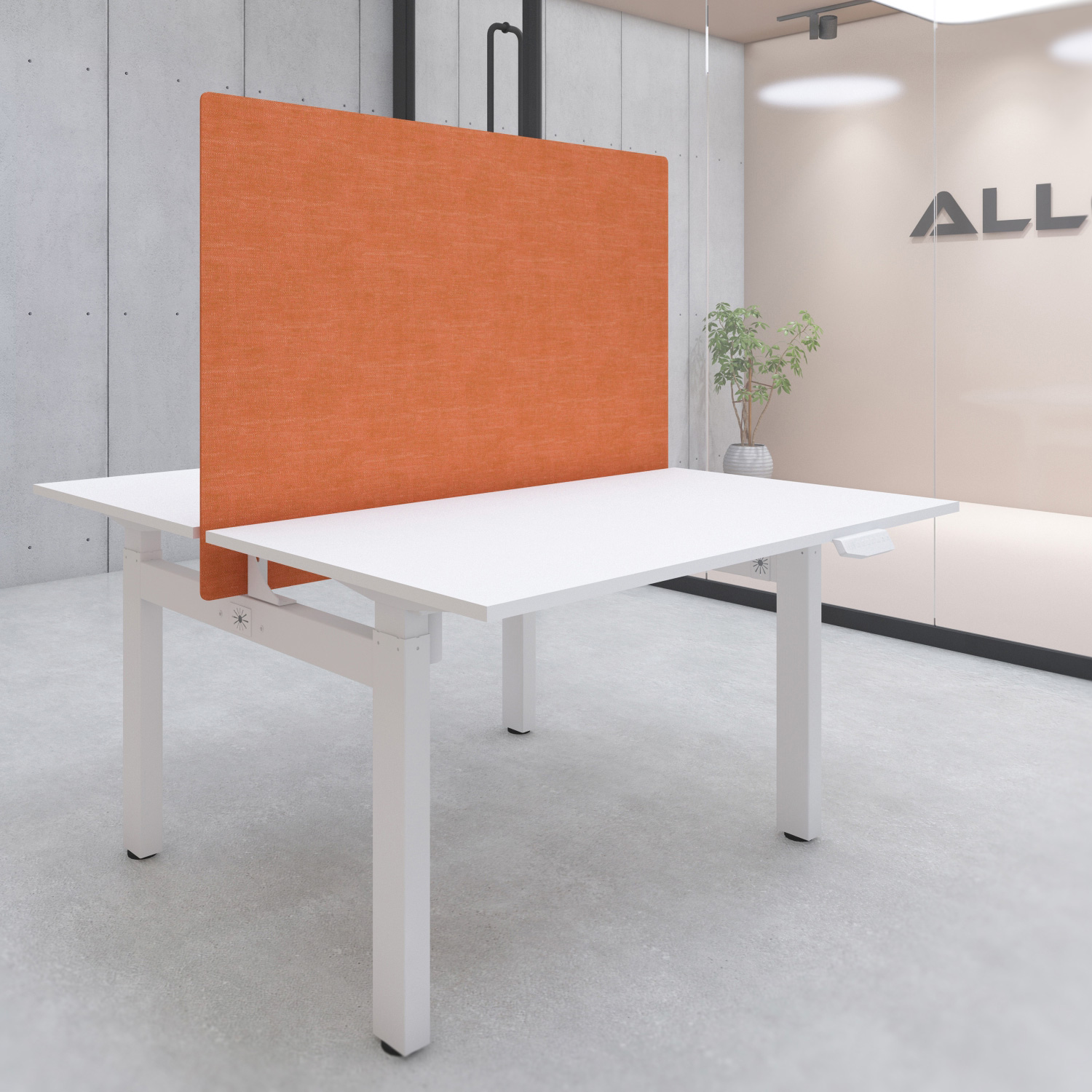 s149ordesk privacy screen with mounting kit 1400x900 orange
