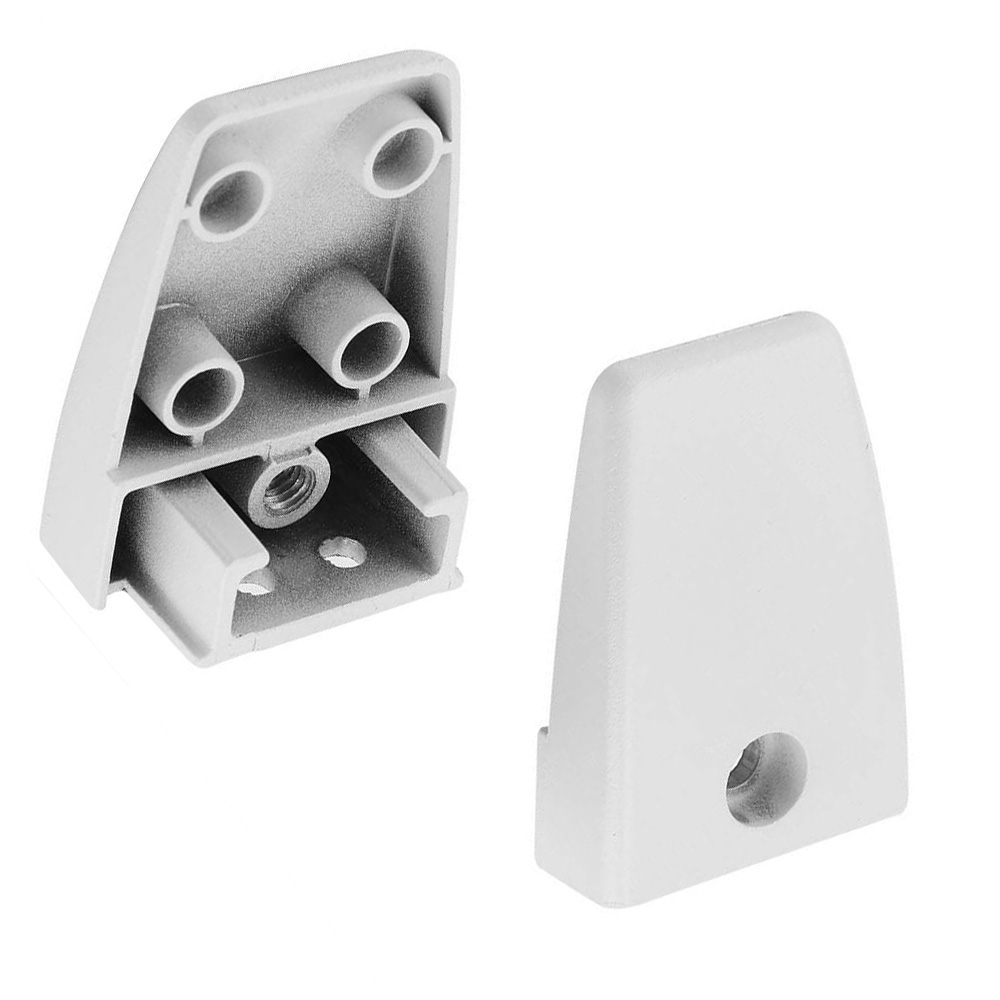 sem01 open desk surface mount bracket for privacy screens and modesty panels