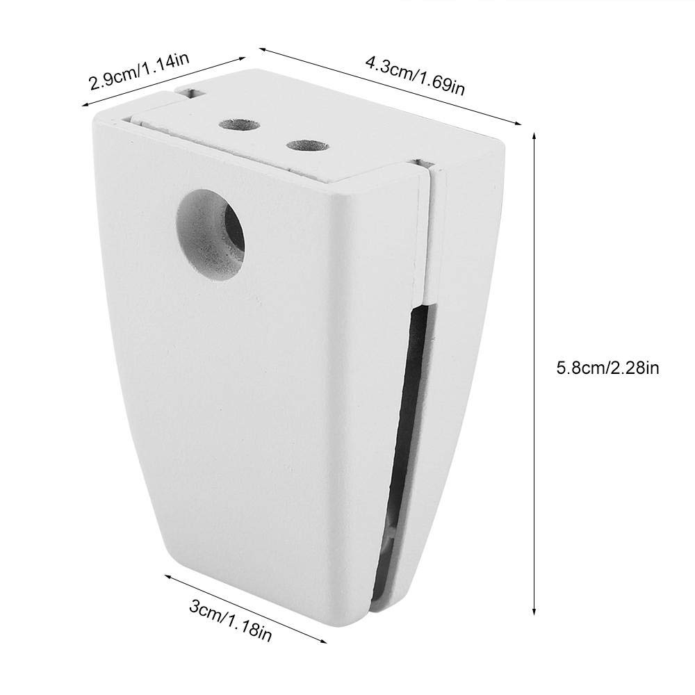 sem01 size diagram desk surface mount bracket for privacy screens and modesty panels