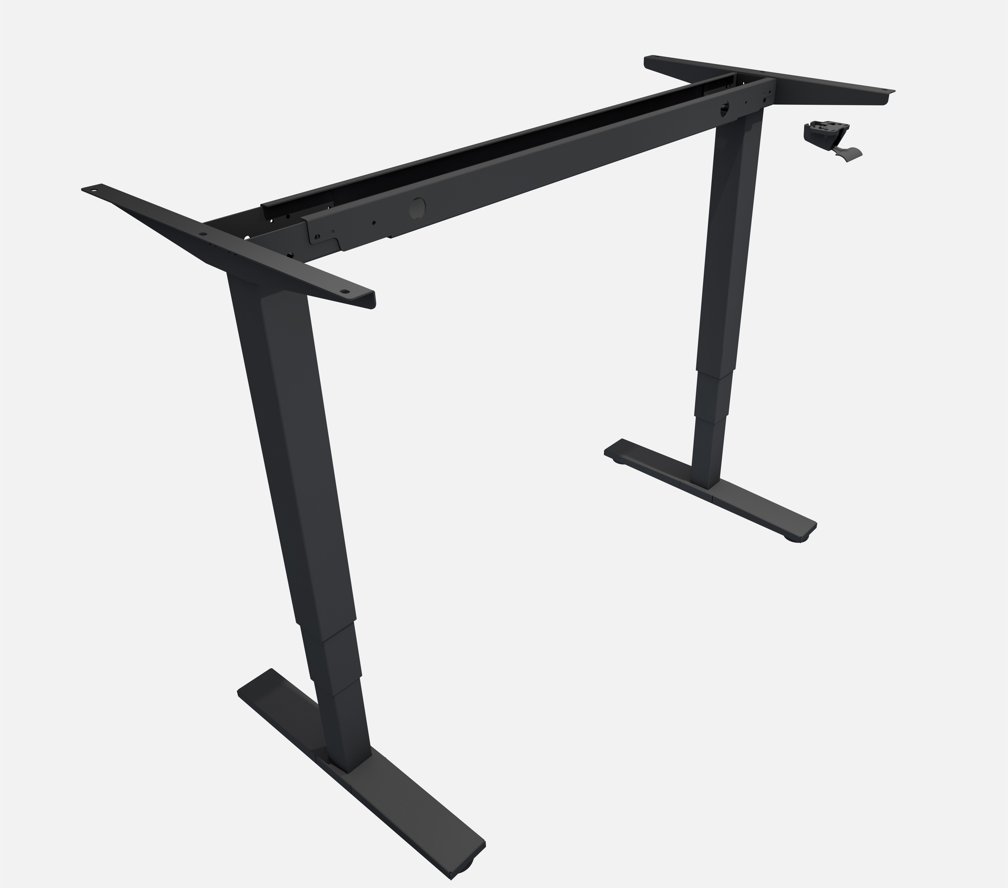 Allcam GDF12B gas spring sit stand desk height adjustable