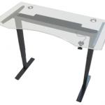 Allcam GDF12B gas spring sit stand desk glass top