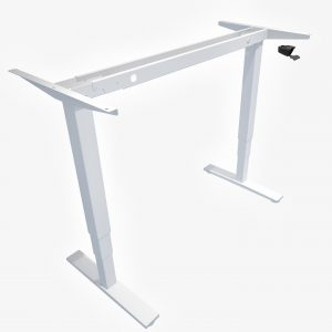 Allcam GDF12 gas spring sit stand desk white height adjustable