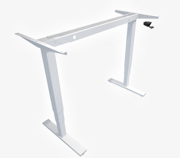 Allcam GDF12 gas spring sit stand desk white height adjustable