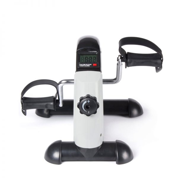 MUB01W Under-desk Mini Bike Exerciser Office Fitness Training Flywheel Front View White