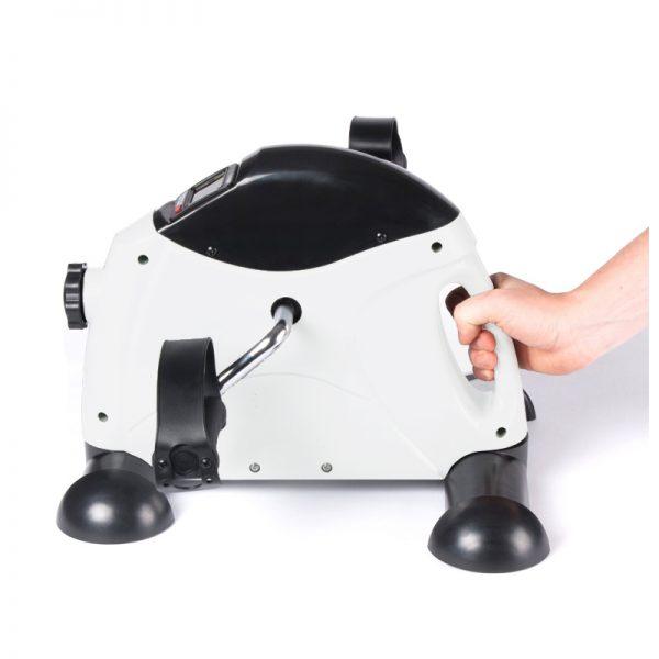 MUB01W Under-desk Mini Bike Exerciser Office Fitness Training Flywheel handle grip White