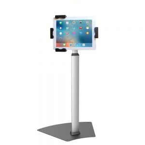 "PAD2104B Allcam PAD2104B Universal Tablet Kiosk Floor Stand w/ Security Screw for iPad and 8""-10.1"" Tablets (PAD2103AB + PAD1205AB)"