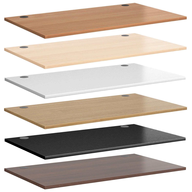 premium commercial grade desk-top table-top with cable holes grommet 6 colours