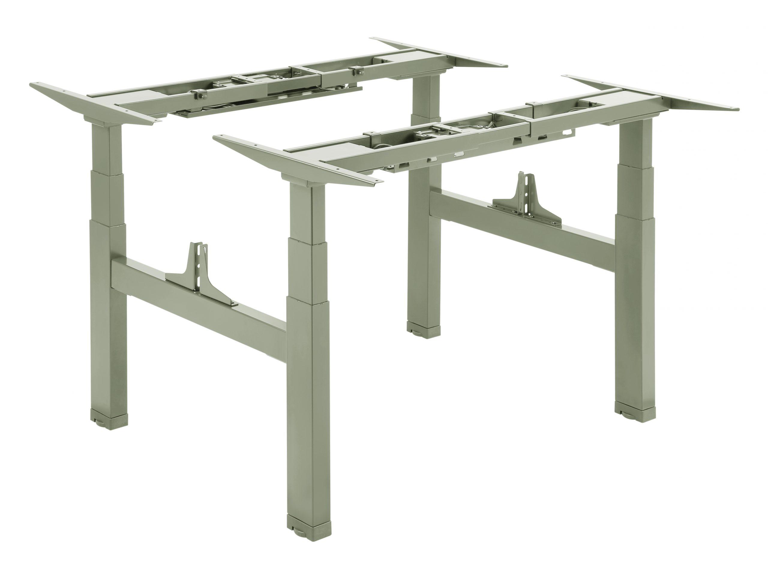 Allcam EDF14QS electric sit-stand desks frame silver
