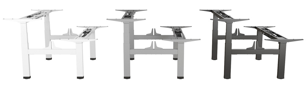 Allcam EDF14Q Back-to-back electric sit-stand desks colour options