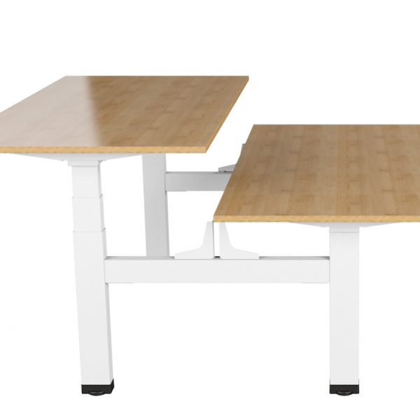 Allcam EDF14Q electric sit-stand desks side view with top