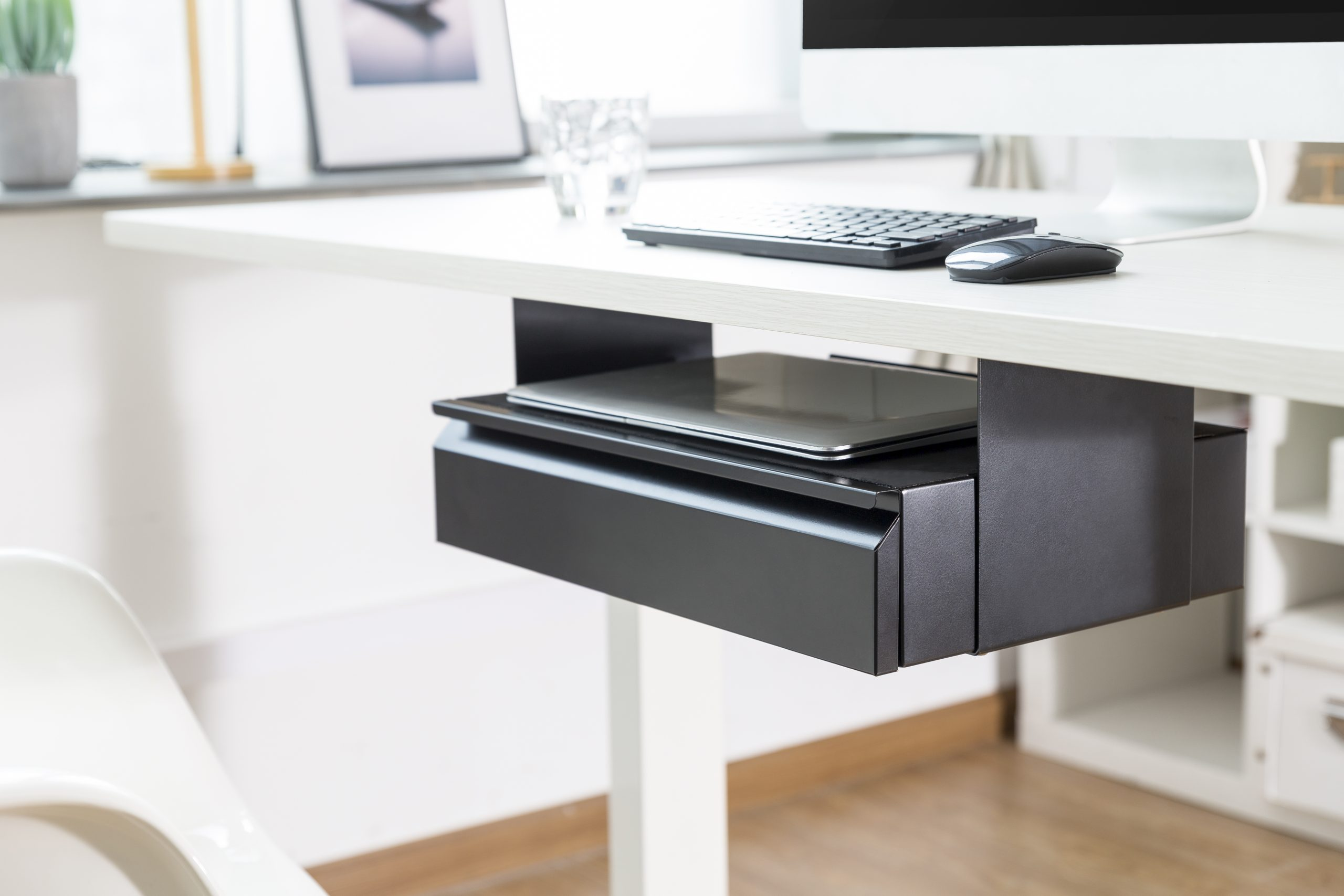 Allcam US022 Under-desk storage drawer & laptop shelf mounted