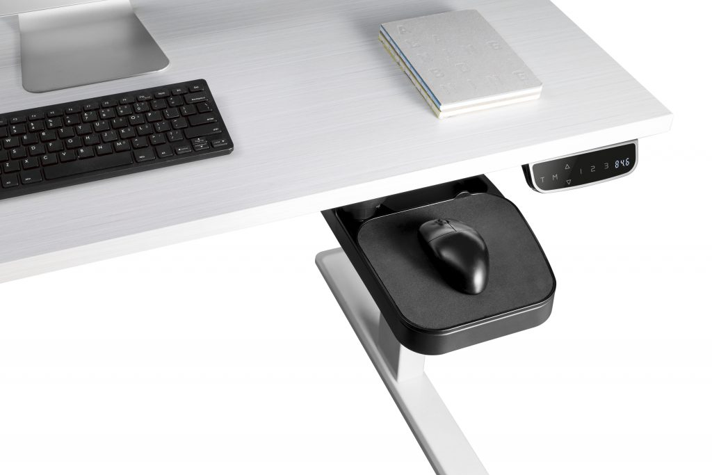 U032 Under-desk mouse pad & pen storage