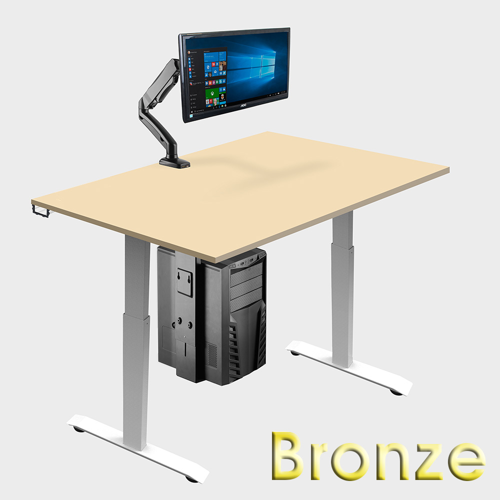 Bronze ergonomic office suite sit-stand desk & accessories home working