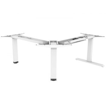EDF13TW electric triple motor sit stand desk frame white