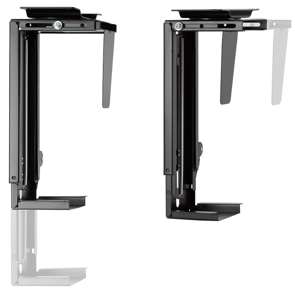 PH19UDB Underdesk CPU Holder/ Adjustable Computer Mount height width adjustment