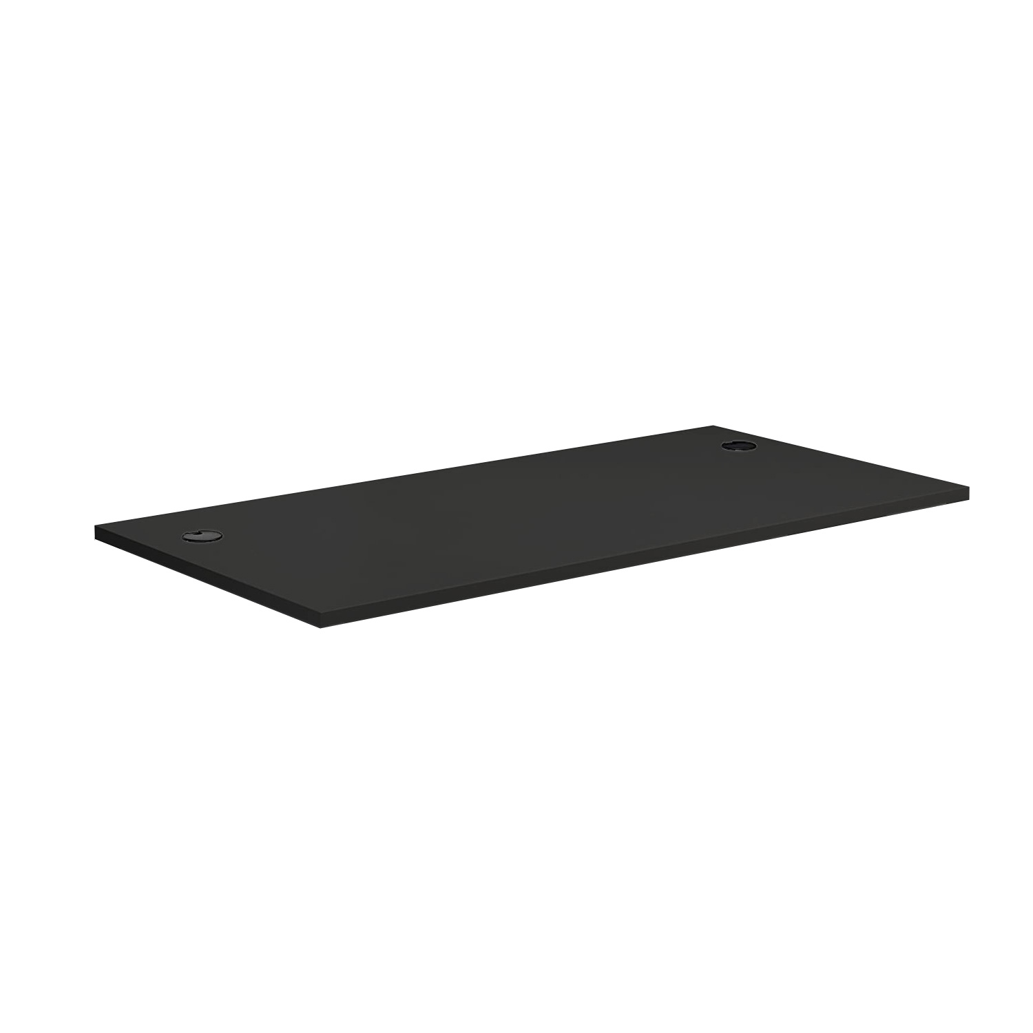 DT148CH8BK Commercial MFC Desk-top 1400x800 mm with Cable Holes in Black