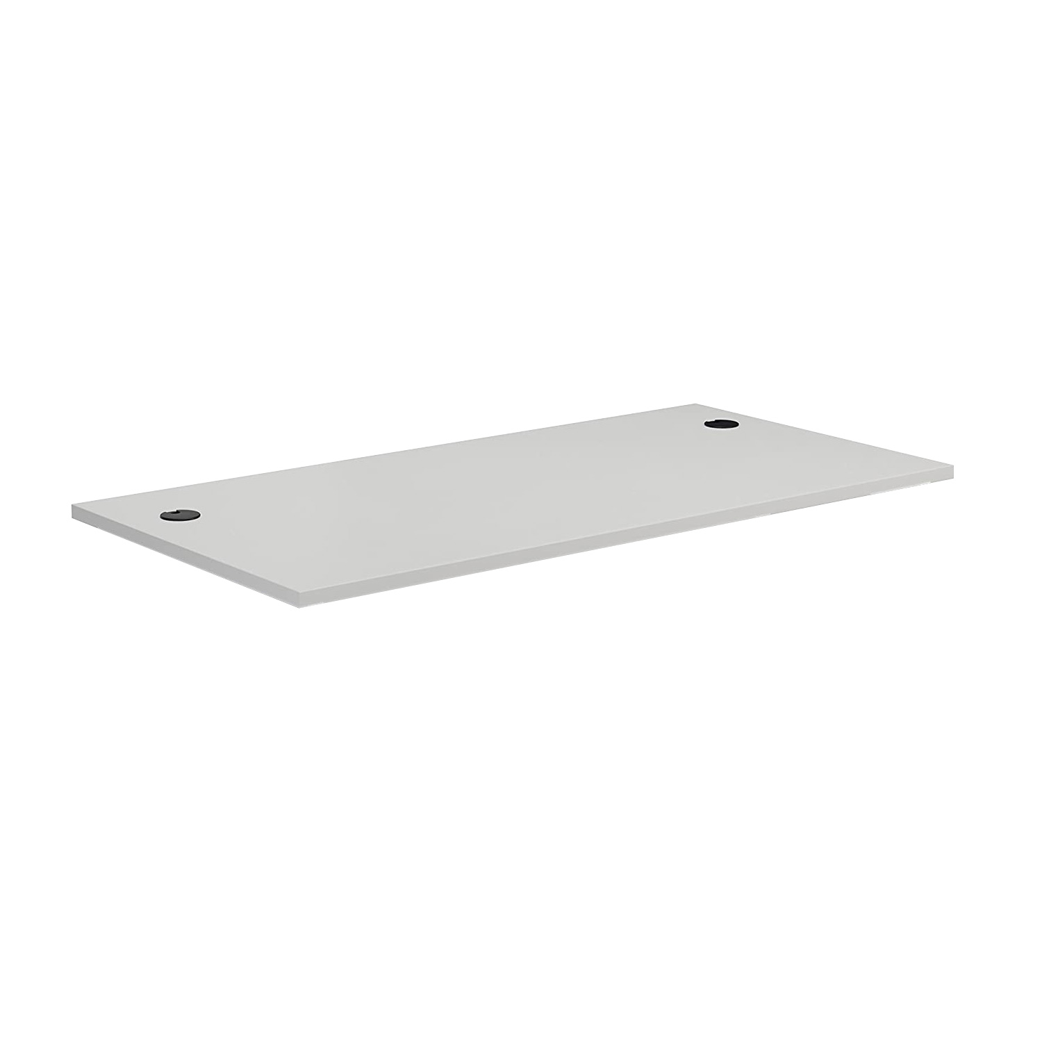 DT148CH8WH Commercial MFC Desk-top 1400x800 mm with Cable Holes in White