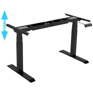 Allcam EDF32DQ electric dual motor height adjustable sit stand desk