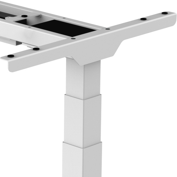 Allcam EDF32DB electric dual motor height adjustable sit stand desk clean finish hidden screws