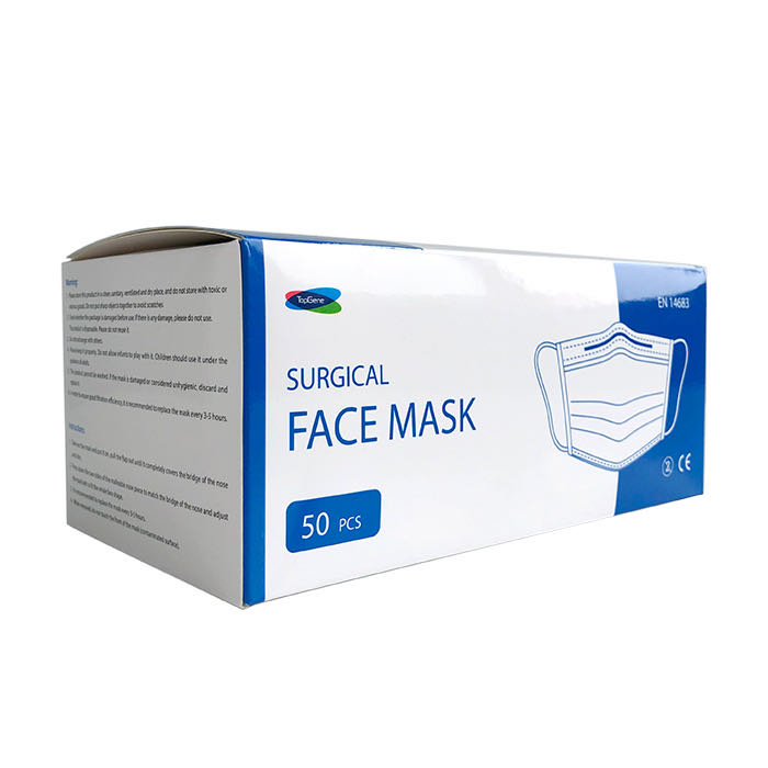 Type II R 3 ply non woven disposable surgical face masksbox of 50