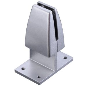 SEM03S Clamp-on/ Screw-down Brackets for Desk Privacy Screens/ Dividers Silver