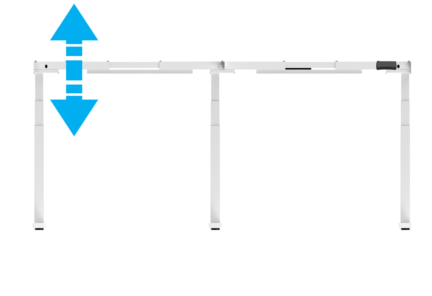 EDF35TM Triple-motor Electric Height Adjustable Standing Meeting Table Desk Frame front view