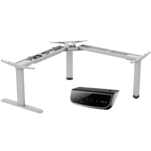 EDF13T electric sit-stand desk frame standing desk silver grey controller