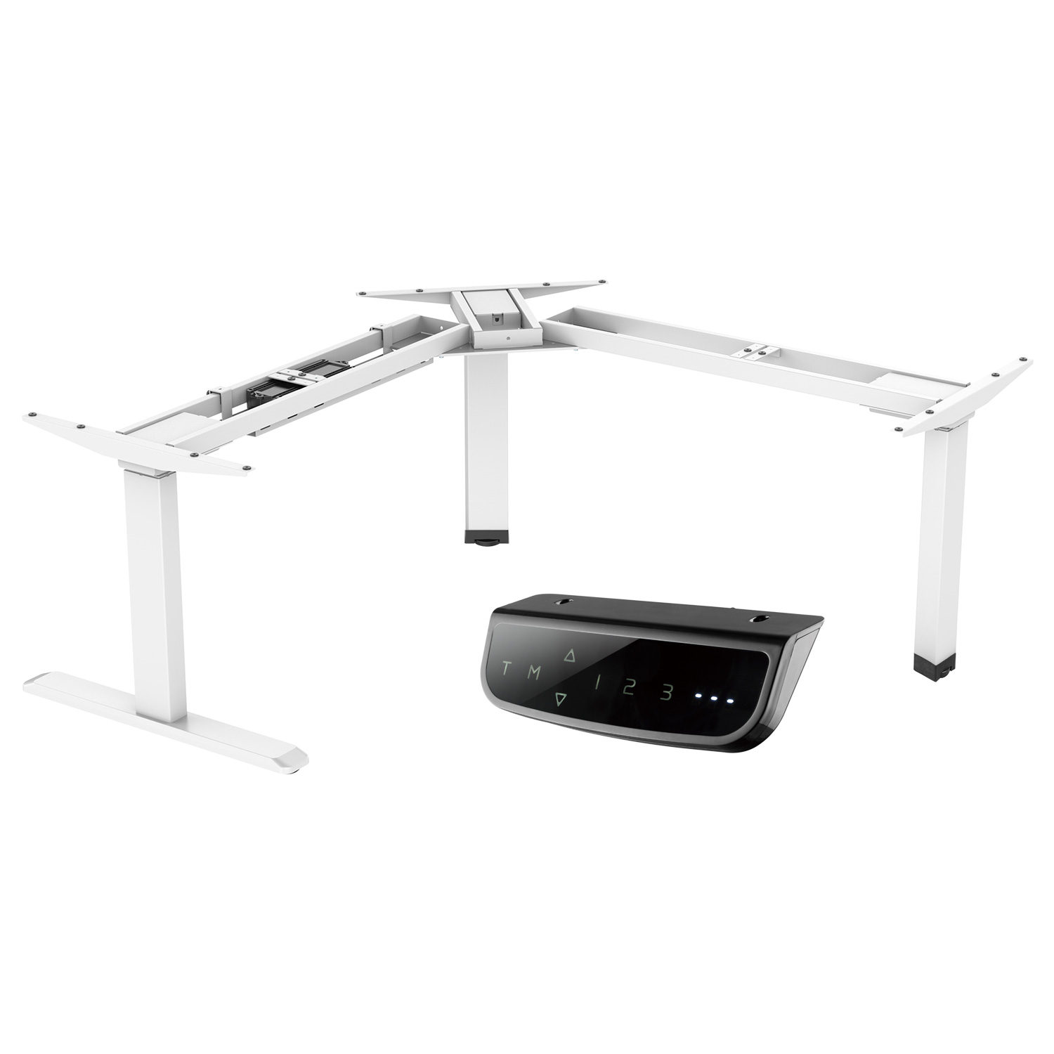 EDF13T electric sit-stand desk frame standing desk controller white