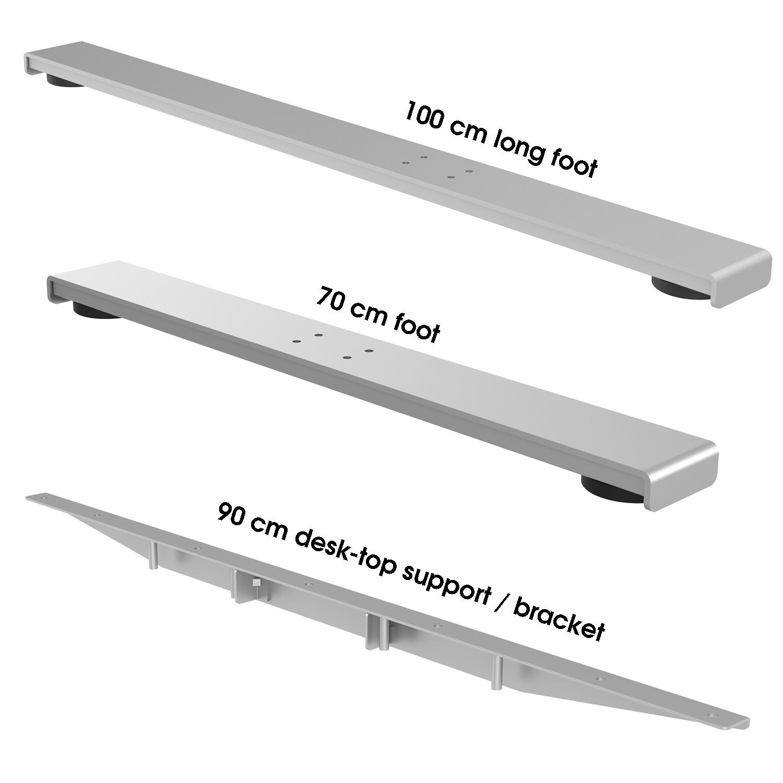 radial corner desk conversion kit long foot top bracket