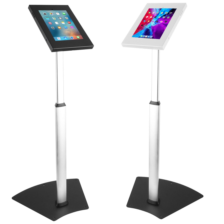 """IPA1205FL 10.2"""" 10.5"""" iPad Kiosk Floor Stand Black"""