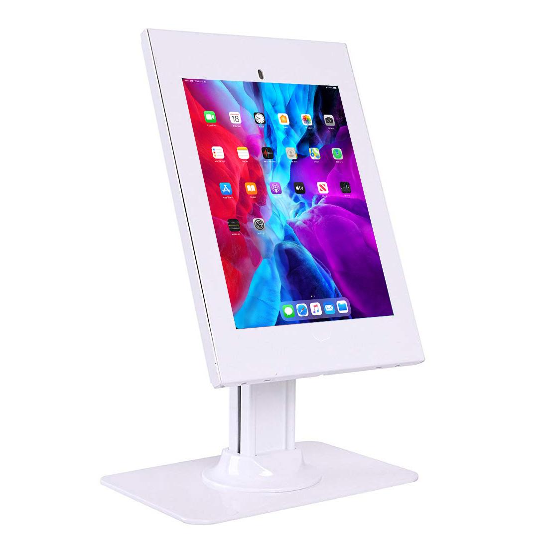 "IPP2602DE 12.9"" iPad Pro (3rd/4th Gen, 2018/2020) Kiosk Security Case Desk Stand White"