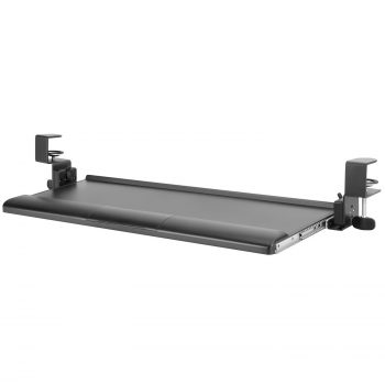 KBT08T Clamp-on Tilting Keyboard Tray w/ Wrist Rest in Black