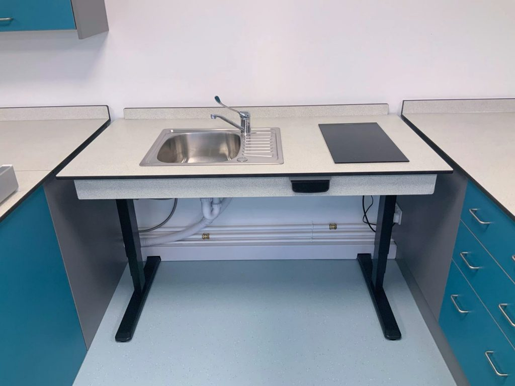 electric height adjustable kitchen sink induction hob 2-in-1